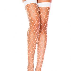 бели чорапи от едра мрежа