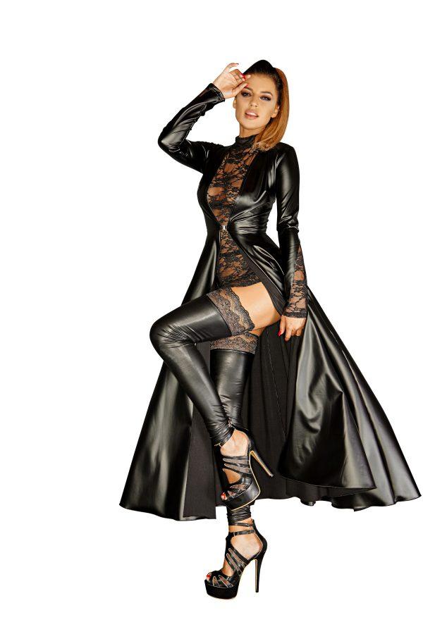 секси черно фетиш манто