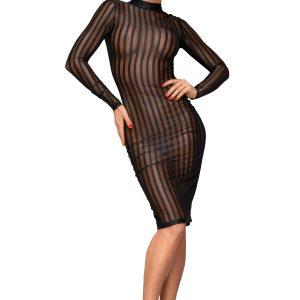 черна рокля от прозрачен тюл