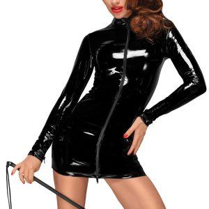 черна секси рокля домина