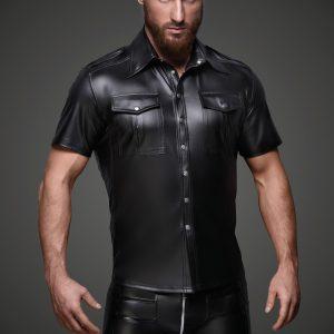 мъжка риза еко кожа фетиш