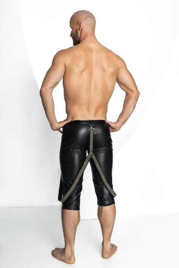 секси мъжки кожени шорти